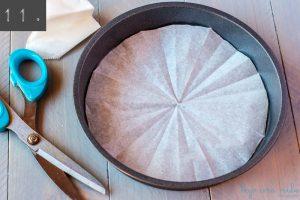Cómo forrar el fondo de los moldes redondos