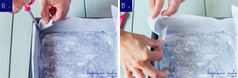 Cómo forrar moldes cuadrados o rectangulares