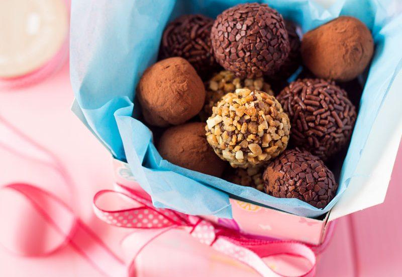 trufas de chocolate para hacer con niños