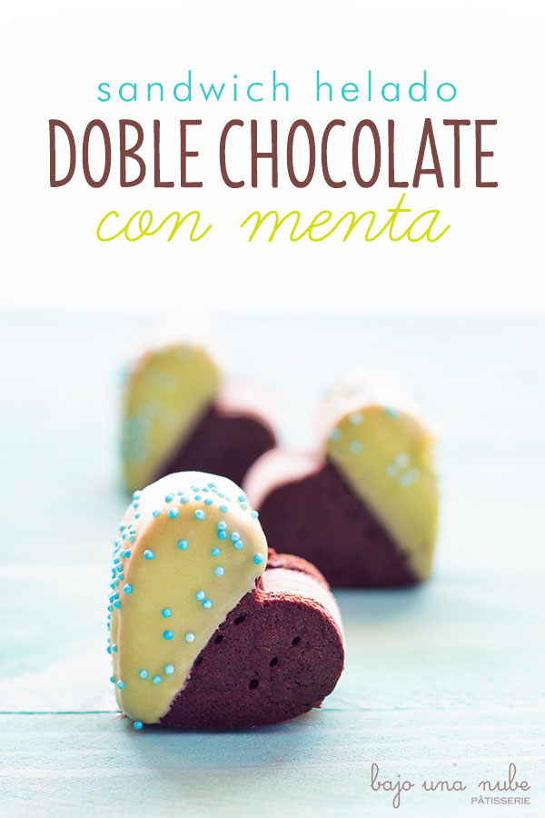 sandwich helado doble chocolate