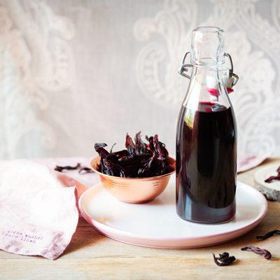 Sirope de hibisco sin azúcar, dulce y saludable