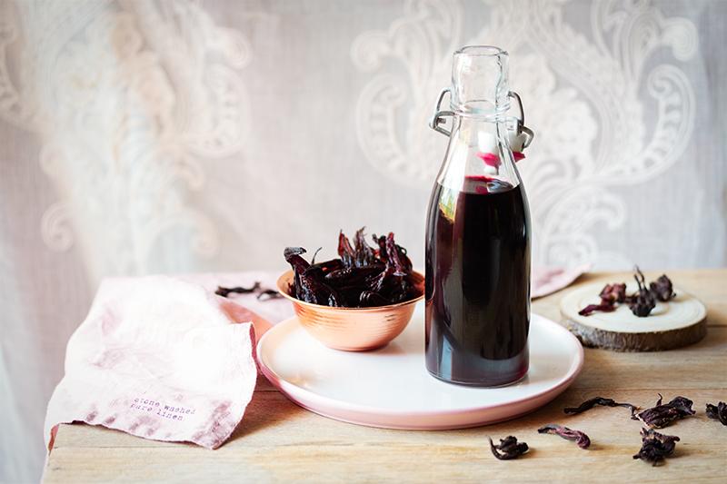 Sirope de hibisco sin azúcar
