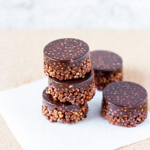 Galletitas crujientes de quinoa y chocolate casero
