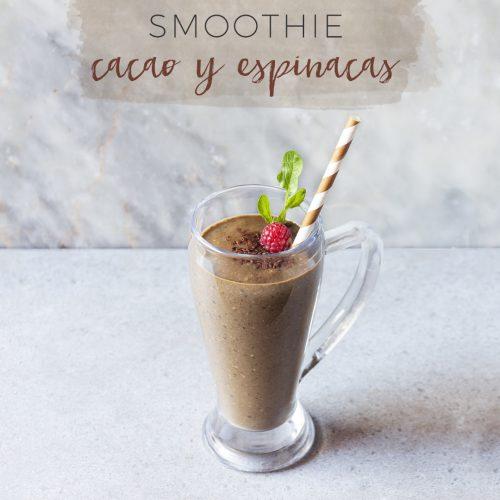 Smoothie de cacao y espinacas