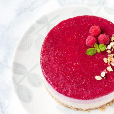 Cheesecake vegano a la frambuesa