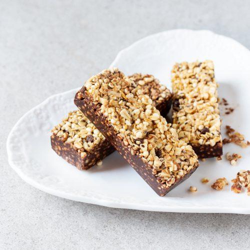 Barritas de cereales y chocolate casero